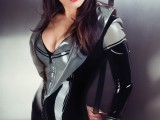 04a catsuit black-silver hood